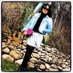 Una falda con mucho vuelo!! Pero cuidado los días de viento www.eliguerrero.com