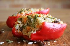 In the news today and hopefully in your belly later: raw stuffed peppers with burghul and a lime tahini dressing!   Too damn delicious and creamy and aromatic and slightly sweet and fiery and too easy to make.