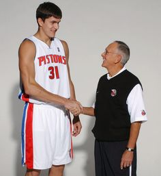 Darko Milicic and Larry Brown 2003