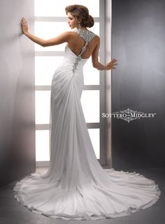 Unique low back bridal gown by Sottero Midgley Delanie Bridal Gown