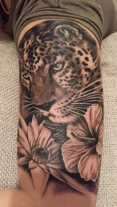 My Beautiful Leopard Tattoo <3