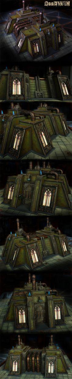 Manufactorium- Dark Angel Legion with Cathedral church/ factory edge