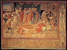 Arazzi di Raffaello AutoreBottega di Pieter van Aelst su disegno di Raffaello Sanzio Data1515-1519 TecnicaArazzi UbicazionePinacoteca Vaticana, Città del Vaticano