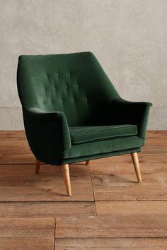 Slide View: 1: Velvet Rivona Chair