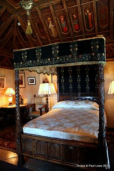 The master bedroom of , William Randolph Hearst the castle owner!