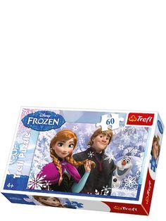 Kokoa huurteinen Frozen-palapeli, jonka kuvassa ovat Anna, Olaf ja Kristoff! Palapelin koko koottuna: 33 x 22 cm. 4+