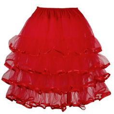 Sexy Damen TUTU Tuetue Rock Petticoat Ballett Kleid Pettiskirt Unterrock Maedchenrock farbig Dance Go Go Girl Vintage 50er Knielang Anladia, http://www.amazon.de/dp/B00DSL3RUI/ref=cm_sw_r_pi_dp_aB3btb0A46W67