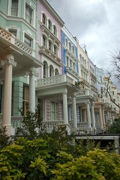 This place has the most beautiful houses! U.K. Notting Hill, London.