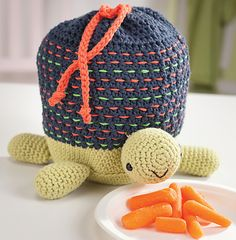 Ravelry: Crocheted Turtle Lunch Tote For Your Little One ~pattern available @ 'Amigurumi On The Go' book by Ana Paula Rimoli