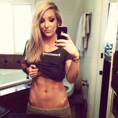 Jenna Marbles ABS..Do this routine before every shower: 50 jumping jacks, 5 pushups, 20 crunches, 20 mountain climbers, and 30 second plank..