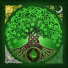 """The """"Celtic Tree of Life"""" design expresses the timeless concept of """"As above, so below."""" Celtic knotwork and spirals are tree roots that reach from deep. Celtic Tree of Life Celtic Symbols, Celtic Art, Celtic Knots, Druid Symbols, Wald Tattoo, Life Poster, Celtic Tree Of Life, Celtic Circle, Art Et Illustration"""