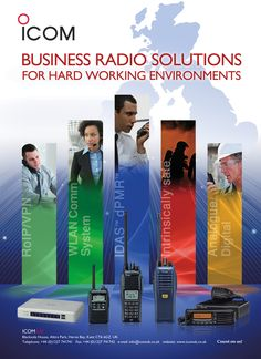 We provide two way radio solutions for business across many technologies. For more details, visit www.icomuk.co.uk