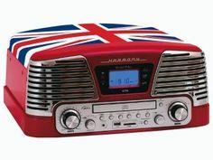 Sistema de Áudio CTX England CD Player - com MP3 Vinil Radio FM e Entrada Pen-Drive