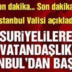 Son Dakika …Suriyelilerin  Vatandaşlık Hakkı İstanbul'dan  Başlıyor Istanbul, Calm