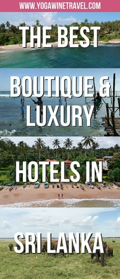 Yogawinetravel.com: The Best Boutique & Luxury Hotels to Let Your Hair Down at in Sri Lanka. Sri Lanka is an incredible country to visit with pristine beaches, fabulous food, vivid culture & history, breathtaking wildlife and wonderful people. The plethora of accommodation options can be overwhelming, so read on for a hand-picked list of the best luxury and boutique hotels to book yourself into in Sri Lanka's Central, Western, Eastern and Southern Provinces!