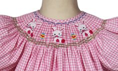 Hey, I found this really awesome Etsy listing at https://www.etsy.com/nz/listing/172756372/girls-bunny-easter-bishop-dress-pink