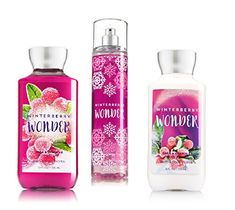 Bath  Body Works  Signature Collection  Winter 2016  Winterberry Wonder  Shower Gel  Fine Fragrance Mist  Body Lotion  Trio Gift Set ** More info could be found at the image url.