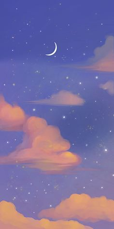Cute Style Blue Starry Wallpaper