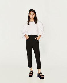 Zara MOM-FIT TROUSERS - OnSale - €12.95