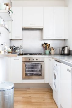 Guest house idea for the Kitchen. Tiny kitchen but with all modern comforts. If the house is too small, work with it.