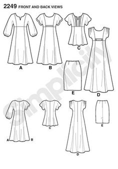 Purchase Simplicity 2249 Misses' & Plus Size Dresses and read its pattern reviews. Find other Dresses, sewing patterns.