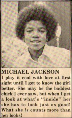 I definitely agree with you Mikey! Yet another reason to love him Jackson Family, Jackson 5, Mj Quotes, Michael Jackson Quotes, Bae, I Love Him, My Love, King Of Music, The Jacksons