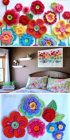 Button Crochet Wall Hanging - Pinterest