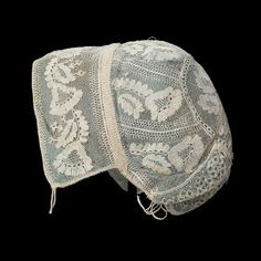 Infant's cap of embroidered net  American, About 1825–30  USA