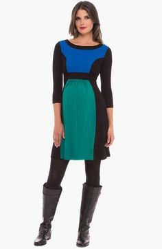 Olian Colorblock Maternity Dress available at #Nordstrom