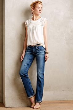 Sweet top... very romantic looking. Like to jeans too.