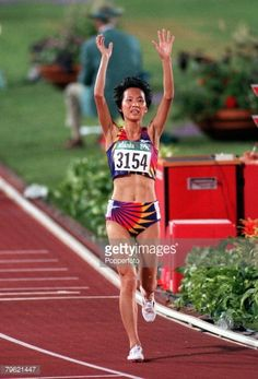 Wang Junxia track and field | Olympic Games, Atlanta, USA, Athletics, Women's 5000 Metres Final ...1:a OS guldet på 5.000 meter för damer 1996 Atalanta.