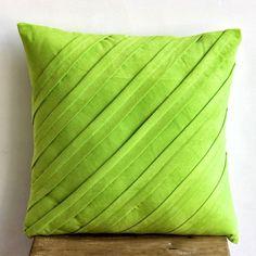 Handmade Lime Green Pillow Shams, Pintucks Solid Textured... https://www.amazon.com/dp/B00D9SNAPM/ref=cm_sw_r_pi_dp_x_P8XiybZE39EY1