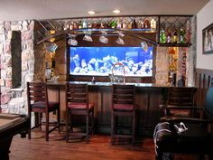 Basement Bar Photo Gallery | 89 Home Bar Design Ideas for Basements, Bonus Rooms or Theaters : Page ...