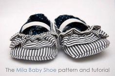 fleetingthing » The Mila baby shoe - Free pdf pattern and step by step Photo tutorial - Bildanleitung und gratis Schnittvorlage