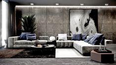 Modern Living Room in Kiev on Behance