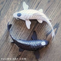 I've long been fascinated with origami, paper art, and koi. Through out college I've designed poseable koi out of wood, and folded origami koi out of a single sheet of paper. Fish Paper Craft, Fish Crafts, Fish Lanterns, Paper Lanterns, Paper Lamps, Origami Paper Art, Origami Fish, Koi Art, Fish Art