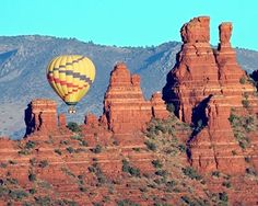 Hot air balloon in Sedona, Arizona