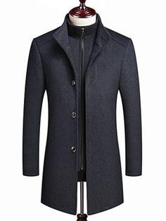 Hommes Cuir Blazer long revers sur mesure Coupe Veste mantal leather