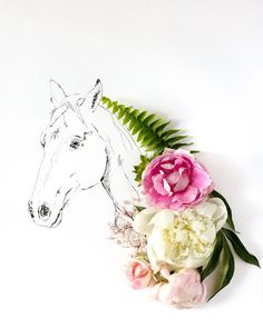 horse No. 0937 por kariherer en Etsy, $30.00