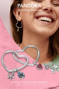 Find the pieces that express who you are with Pandora Me, our sterling silver collection of small dangle charms.