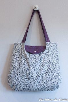sac-pliable-tuto-diy-les-lubies-de-louise-3-5 Coin Couture, Diy Sac, Sacs Diy, Diy Purse, Pouch, Wallet, Fabric Bags, Longchamp, Purses And Bags