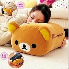 KT260 San-X Rilakkuma Bear Multi Purpose Big Stuffed Plush Pillow Cushion ~Cute~