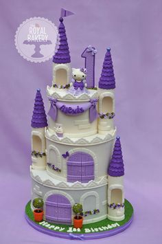 Hello Kitty Castle Cake
