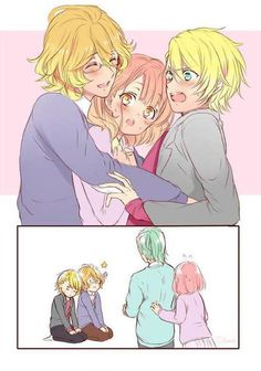 Uta no Prince sama ~ xD yes natsuki get nanami and syo closer xD yes!