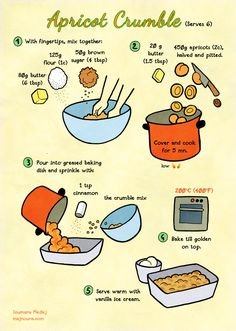 Quick food: Apricot crumble by Majnouna.deviantart.com on @DeviantArt