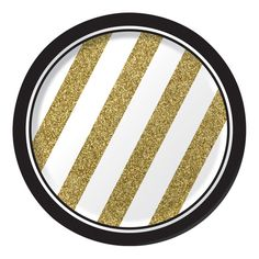 Black & Gold 7 Inch Lunch Plate/Case of 96