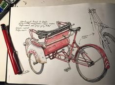 Repost from @motulz Becak (pedicab) Jogja - #sketch #sketching #sketchwalker #fountainpen #lamysafari #watercolor #rembrandt #jogja