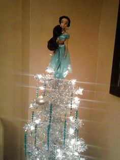 Disney Christmas Tree Decorations, Disney Decorations, Christmas Trees, Princess Jasmine, Little Girls, Chandelier, Ceiling Lights, Collection, Home Decor