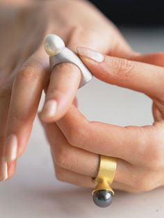 Beautiful, spacey rings from Japan's Nagi Nakajima. Brilliant, original.