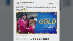 Jessie Diggins and her teammate Kikkan Randall won the first ever Olympic medal for a U.S. women's cross country skiing team (0:18). WCCO 4 News At Noon – Feb. 21, 2018
